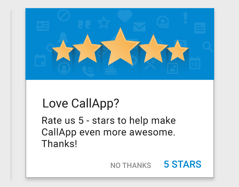 Dating app ratings