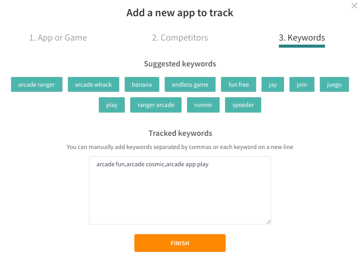 Adding an app: Keyword Suggestions