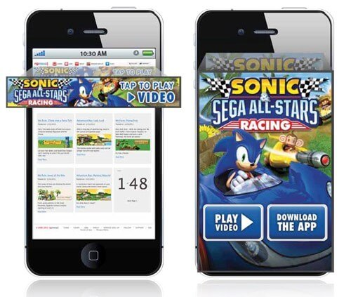Banner Ads Sonic Game