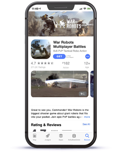 War Robots iOS App Store product page
