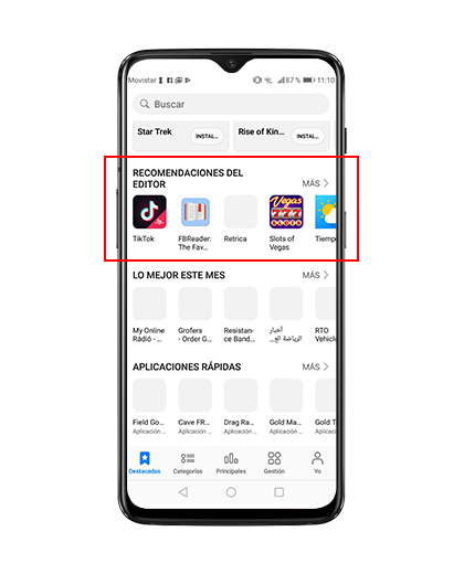 Editors Recommendations AppGallery Huawei